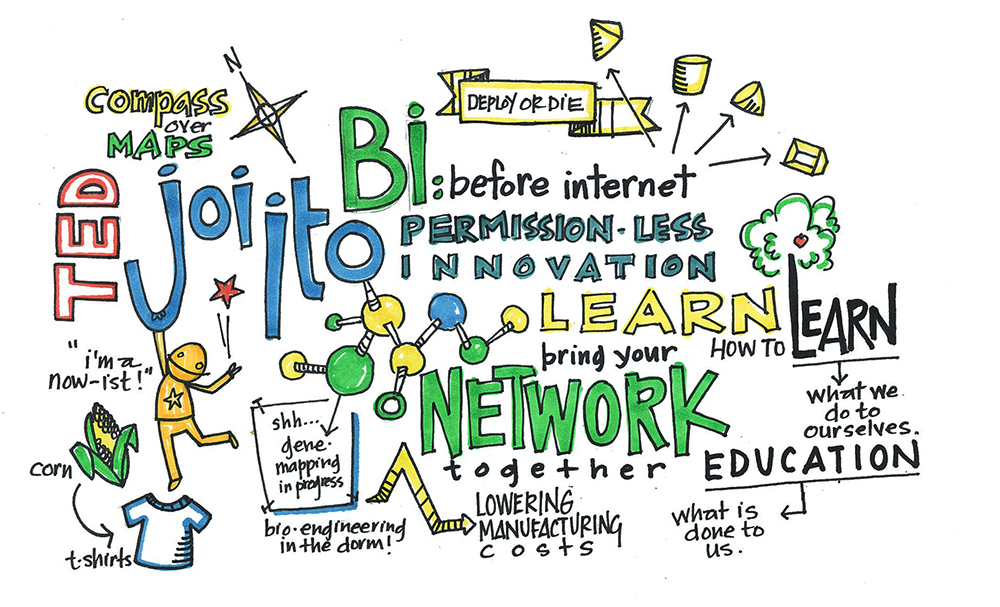 Joi Ito, TED2014, scribed by Annie White
