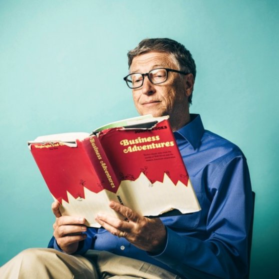 Bill Gates reads Business Adventures